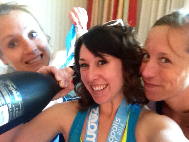 Post-race chamapagne!