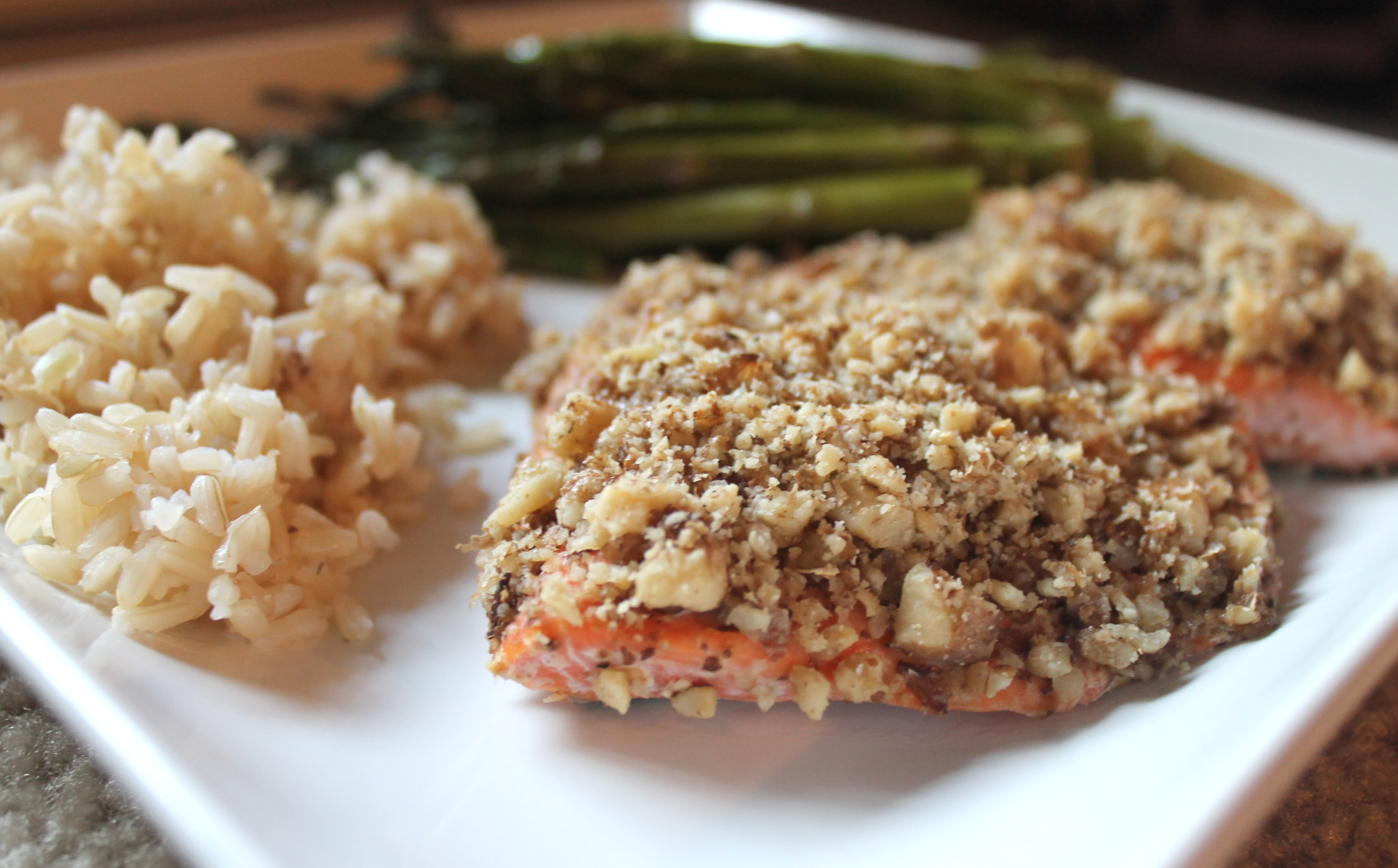 walnut crusted salmon