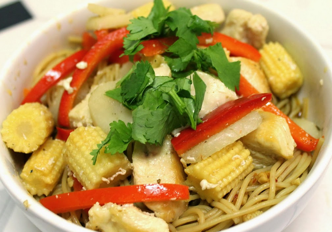 Sweet Chili Garlic Chicken Bowl