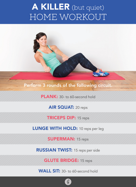 At home apartment workout