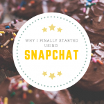Why I Finally Gave In to Snapchat (Snap Me at Ericka81!)